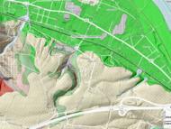 Ortsumgehung B6 Dresden-Cossebaude auf der geologischen Karte (Quellenachweis siehe unten)