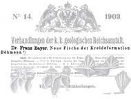 F. Bayer über fossile Fischfunde (Wirbel, Hautschilder) aus der Kreide