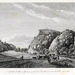 Ansicht der Granitfelsen nach der Brücke zu, von der Buschmühle