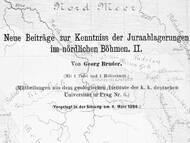 G. Bruder über die Juravorkommen in Tschechien