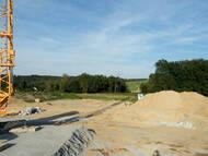Die Baustelle an der zukünftigen Brücke über den Bonnewitzer Grund im Herbst 2012