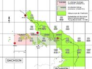 Übersichtskarte der erschienenen und zukünftigen Beiträge zu Kohlen und Kohlenabbau in den Kreideablagerungen(ohne Störungslinien).