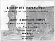 Dissertationsschrift über die obere Kreide von Böhmen und Schlesien