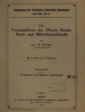 Einband A. Franke über Foraminiferen