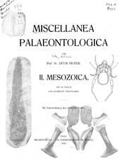 A. Fritsch gemischte Beiträge zur Paläontologie des böhmischen Kreidebeckens