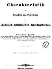 Charakteristik der Schichten und Petrefacten des sächsischen Kreidegebirges 1 bis 3