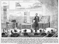 Anton Fritsch bei einem Vortrag am 6. August 1879 zur Geologie von Chotzen