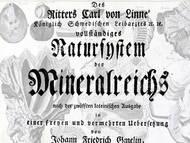 J. F. Gmelins deutsche Ausgabe des Linné'schen Systema Naturæ