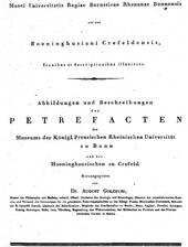Monographie von G.A.Goldfuß und G. Münster