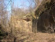 offener ehemaliger Sandsteinbruch an der Heidenschanze, Foto. M. Göpfert