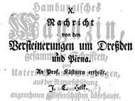 J.C: Helck, 1749: Fossilien aus der sächsischen Kreide, mitte des 18. Jahrhunderts
