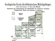J.E. Hibsch: Geologische Karte 1:25.000 des böhmischen Mittelgebirges. In 12 Blättern.
