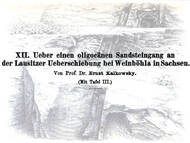 E. Kalkowsky: Sandsteingang in Weinböhla