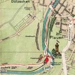 historische Karte vom Plauenschen Grund