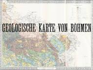 historische geologische Karte von Böhmen im Maßstab 1:200.000