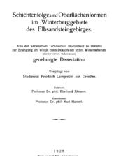 Über die lithostratigraphische Gliederung der sandigen Fazies der Elbtalkreide