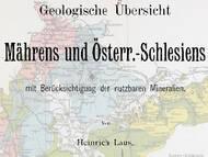 H. Laus: Geologische Übersichtskarte von Mähren & Schlesien, Tschechien