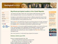 Database to find geological localities in the Czech Republic