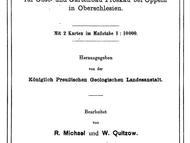 Geologische Arbeit zur Gegend bei Oppeln von R. Michael