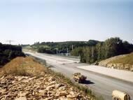 Brücke über das Müglitztal - der Betrachter steht am südlichen Ende und blickt in Richtung Meuschaer Höhe