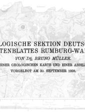 Geologische Karte von Rumburk, Varnsdorf, Jablonné v Podještědí