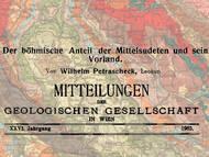 W. Petrascheck über die Geologie des niederschlesischen-böhmischen Beckens (Mitelsudeten)