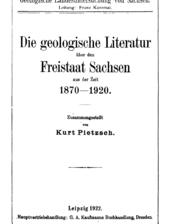 geowissenschaftliche Bibliographie für Sachsen