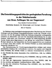 Wissenschaftsgeschichtliche Abhandlung u.a. über das Zittauer Sandsteingebirge