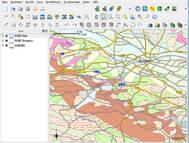 Beispielanwendung QGIS - Abb. auf Grundlage von Daten des LfULG Sachsen; <a href='http://www.openstreetmap.org/copyright' target='_blank'>© OpenStreetMap & Mitwirkende</a>