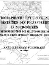 Ergebnisse von Geländearbeiten zwischen 1907 und 1911 in Nordböhmen im Gebeiet des Flusses Ploučnice