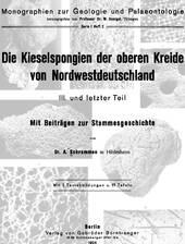 Monographie über die Schwämme der norddeutschen kreide