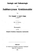 Schröder: Geologie und Paläontologie der Subhercynen Kreidemulde