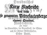 C.F. SChulze, 1760: Petrefactenberge ohnweit Dresden