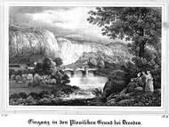Lithographie aus E. Sommer, 1835: Saxonia - Museum für sächsische Vaterlandskunde (Google Books)