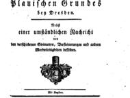 Beschreibung der Gesteine im Plauenschen Grund aus dem späten 18. Jahrhundert