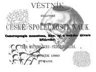 C. Zahalka: Über die Schwammart Camerospongia monostoma