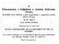 C. Zahálka über die böhmische und belgische Kreide: Cenoman